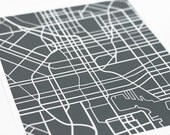 Baltimore City Street Map Art / Custom Map Digital Print / 8x10 / Choose your color