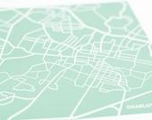 Charlottesville City Map Art Print / UVA University Wall Art Poster / 8x10 / Choose your color