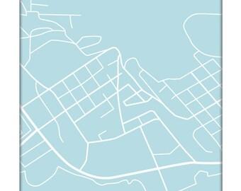 Juneau City Map Art Print / Alaska Art Custom Street Map Poster / 8x10 Digital Print / Choose your color