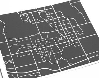 Ames City Map Art Print / Iowa State University Grad Gift / 8x10 Dorm Decor / Personalized colors