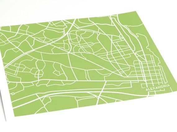 Alexandria, VA City Map Art Print / Virginia Wall Art Poster / 8x10 Digital Print / Choose your color