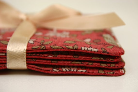 Fabric Coasters, Panier de Fleurs Fabric Coasters - Set of 4