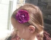 The Grace - purple flower clip