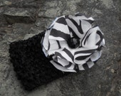 40% off entire shop use coupon code closeout at checkout. The Tara - Black and white zebra print infant headband
