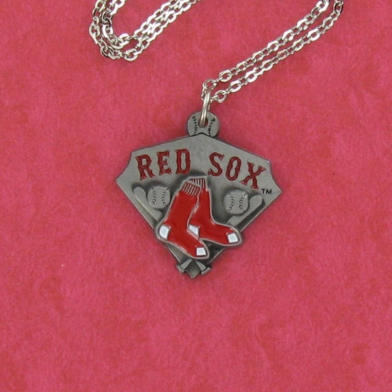 BOSTON RED SOX - Pewter Charm on a free Plated Chain