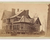 Cdv Mount Vernon Ohio Bishop Bidell House carte de visite 19th century 1800s albumen photograph
