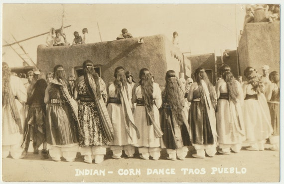 Indian Corn Dance Taos Pueblo RPPC