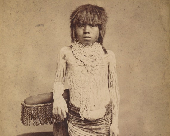 Yuma Indian Boy by E. A. Bonine Native American Ethnographic cabinet card