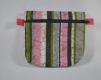 Zippered Bag // Small // Vintage Bark Cloth