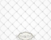 5ft x 5ft Vinyl Photography Backdrop  / White Tufted Diamond Vintage
