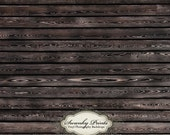 8ft x 8ft Vinyl Photography Backdrop / Stained Black Wood