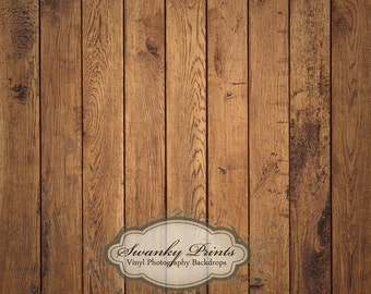 5ft x 5ft Vinyl Photography Backdrop / Brown Raw Wood Floordrop