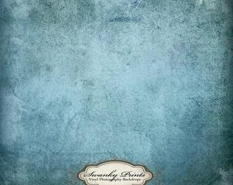 NEW ITEM 4ft x 4ft Vinyl Photography backdrop Ecru Blue Wallpaper Grunge