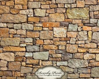 LARGE 5ft x 5ft Vinyl Backdrop multi stone wall / Photography Backdrop