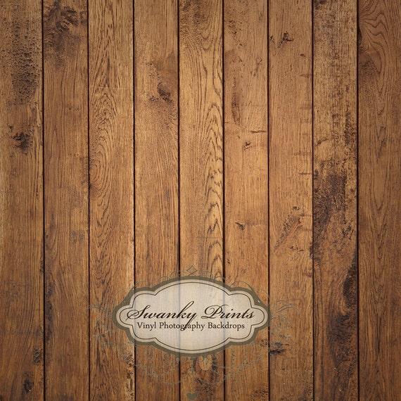 5ft x 5ft Vinyl Photography Backdrop / Brown Raw Wood Floordrop