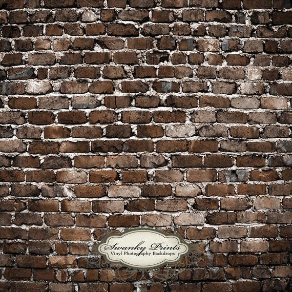 3.5 x 3.5 foot Vinyl Backdrop old brick wall perfect for newborn pics, children