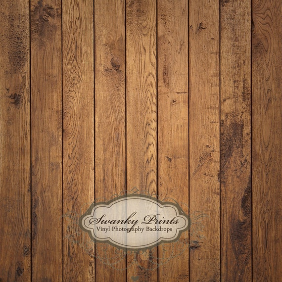 5ft x 4ft Vinyl Photography Backdrop / Brown Raw Wood Floordrop