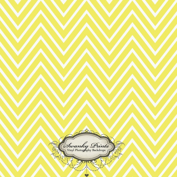 NEW ITEM 4ft x 4ft Vinyl Photography Backdrop / Yellow Chevron