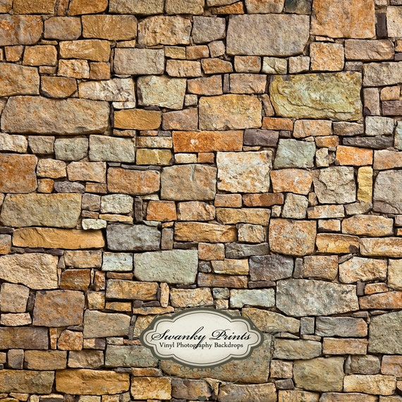 Large 5ft x 5ft vinyl backdrop multi stone wall photography - Wall wallpaper designs ...