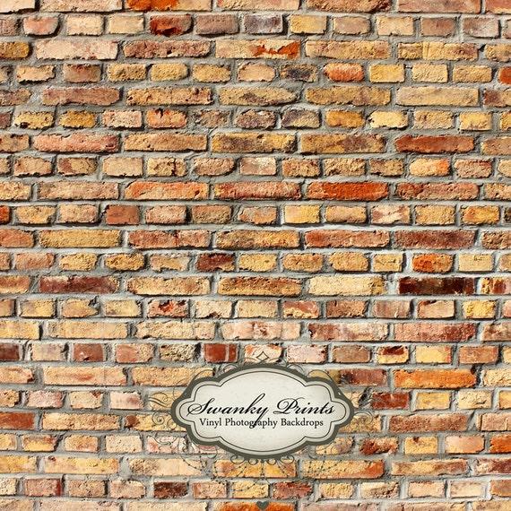 NEW ITEM 5ft x 5ft Light Fire Brick Wall / Vinyl Photography Backdrop Floordrop Newborn photos