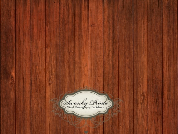 TRAVEL 4ft x 3ft Vinyl Backdrop WOOD FLOORDROP Wood Dark Redwood Floor