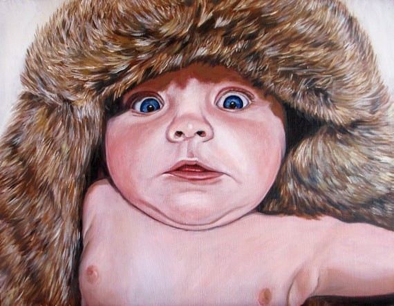Custom Baby Portrait - CUSTOM PORTRAIT PAINTING -  Oil Painting - Perfect Gift