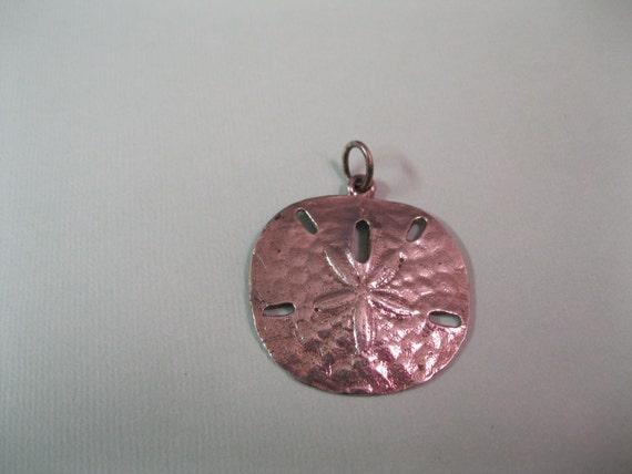 Vintage Sterling Silver Sand Dollar Pendant