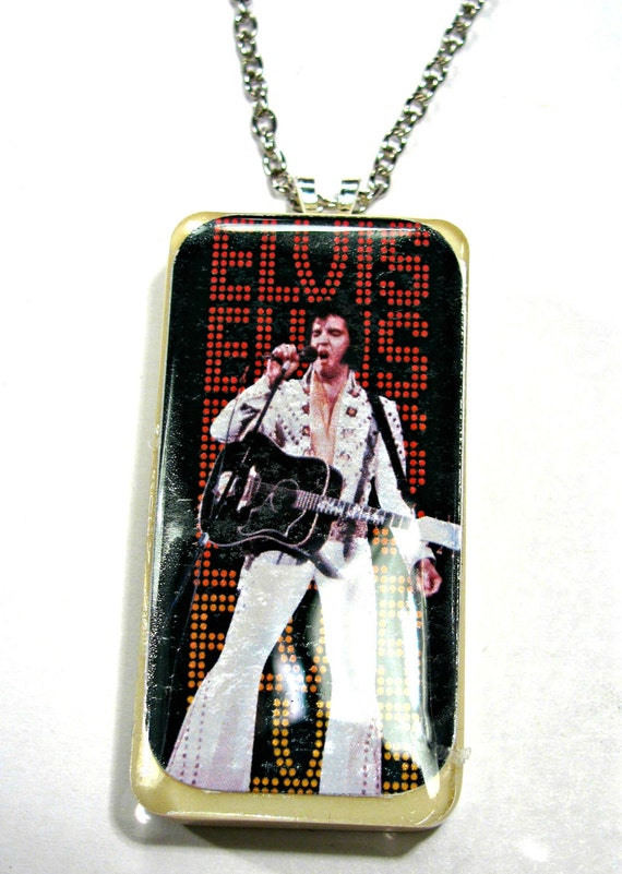 Elvis domino necklace chain included