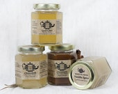 Organic Pure Raw Honey Tea SET of 3, 8 oz Jars.