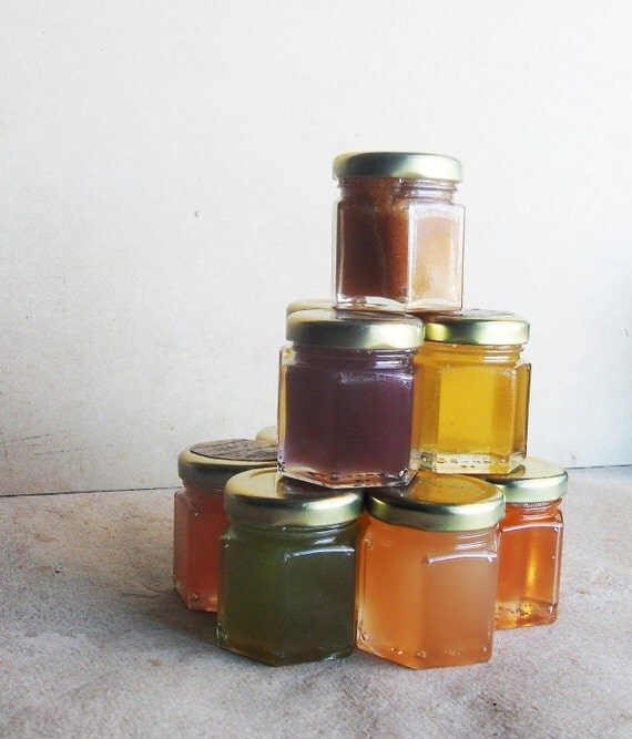 3 Sample Jars 2oz Conventional Pure Raw Honey Tea!