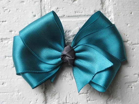 Teal Hair Bow