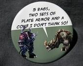 World of Warcraft - Kodo - Button or Magnet or Keychain Bottle Opener