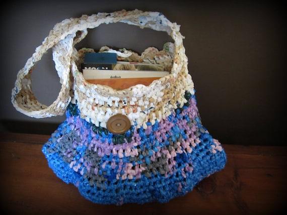 Blue Plarn Purse