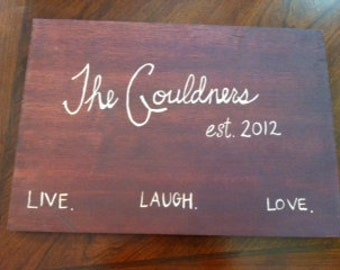 Personalized Hand-Carved Wall Plaques