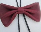 Bolo Leather Bow Tie