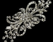 Vintage-style bridal/wedding, homecoming, prom, special/any occasion - brooch, hair comb or sash, fascinator adornment - style - 4C3