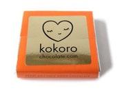 Orange & Turkish Almond Milk Chocolate x 1 handmade solid 70g 8cmx8cm Kokoro chocolate bar