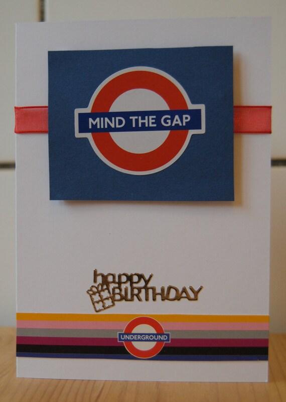 "London Underground ""Tube"" birthday card"