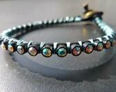 NEW Moonlight II Single Wrap Leather Bracelet