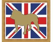 Union Jack Bull Dog cross stitch pattern, The British BullDog, PDF chart