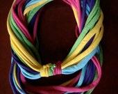 rainbow infinity t-shirt scarf