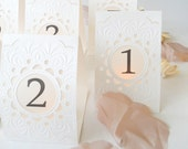 Custom order for Christina: 13 table numbers for sept 2nd