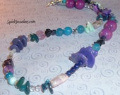 Aquarius Choker  - THE ZODIAC COLLECTION - Organized Chaos Necklace - For Connecting With The Unique, Quirky Energies of the Aquarians