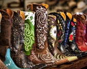 Texas Western Brown Boots Photographic Fine Art