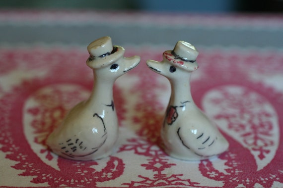 Small Japanese Duck Figurines