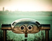 I Can See You From Here, Green, Vintage, 8 x 10 Photography