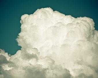 Teal, Cloud,  Minimal, 20 x 30 Photography