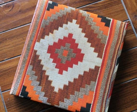 Vintage Photo Album Chevron Spine Aztek/Southwestern/Baja/Woven 1970s