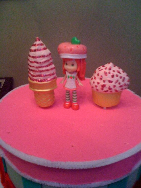 Strawberry Shortcake Cake Pops/brownie by Aliskeepsakeartcakes