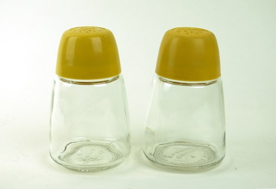 Federal Yellow Salt and Pepper Shakers
